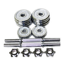 360 Ongsa 15 KG CHROMED DUMBBELL SET - T Bar with Rubber