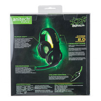 Anitech Gaming Headphone With Mic AK75 - Black/Green