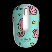 Anitech เมาส์ไร้สาย WIRELESS MOUSE รุ่น W222-BL