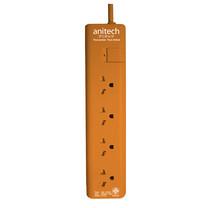 Anitech ปลั๊กไฟ มอก.4ช่อง 1สวิทช์ สาย3เมตร รุ่นH1134-OR