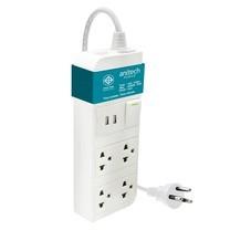 Anitech ปลั๊กไฟ มอก. 4 ช่อง 2 USB 1 สวิตช์ รุ่น H624-BL