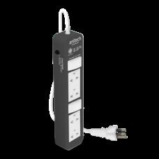 Anitech ปลั๊กไฟมาตรฐาน มอก. 4 ช่อง รุ่น H604-GY