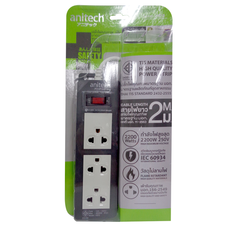 Anitech ปลั๊กไฟ มอก. รุ่น H613-GY