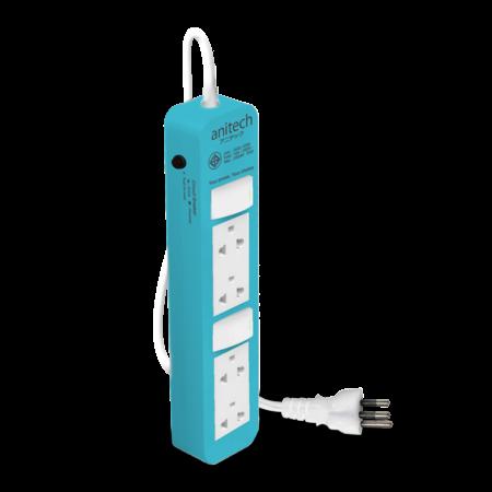 Anitech ปลั๊กไฟมาตรฐาน มอก. 4 ช่อง รุ่น H604-BL
