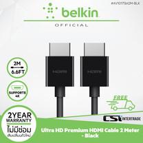 Belkin สายสัญญาณ 2เมตร Belkin Ultra HD Premium HDMI Cable - รุ่น AV10175bt2M-BLK