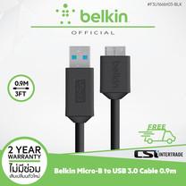 Belkin สายชาร์จพร้อมถ่ายโอนข้อมูล Smart Phone, Laptop, Ex HDD USB 3.0 to Micro-USB B 0.9 M - F3U166bt03-BLK