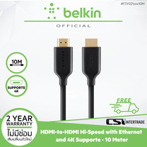 Belkin สาย HDMI-to-HDMI Hi-Speed with Ethernet and 4K Supported ยาว 10 Meter F3Y021bf10M