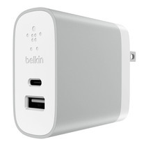 Belkin อุปกรณ์ชาร์จโทรศัพท์กำแพงบ้าน USB-C + Belkin USB-A Home Charger รุ่น F7U011dqSLV