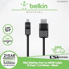 Belkin สาย Mini DisPlay Port to HDMI Cable ยาว 12 Feet / 3.6 Meter F2CD080bt12