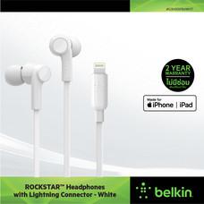 Belkin หูฟังสำหรับไอโฟน รุ่น Belkin ROCKSTAR™ Headphones with Lightning Connector - G3H0001btXXX