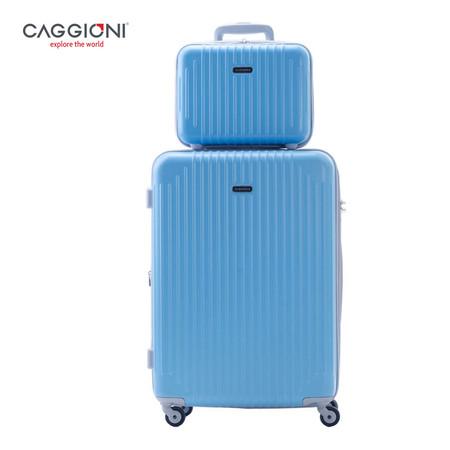 CAGGIONI เซ็ทกระเป๋าเดินทาง ขนาด 25 นิ้ว + 12 นิ้ว รุ่น Value Set PD6001 - Blue