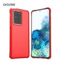 Araree เคส S20 Ultra [MACH] เคสใส, เคสกันกระแทก - Red