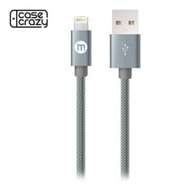MOBISTER สายชาร์จ Lightning 8 pin Sync & Charge Cable - Grey