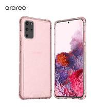 Araree เคส S20+ [MACH GLITTER] เคสใส, เคสกันกระแทก - Pink