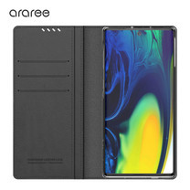 Araree เคส Note 10+ / Note 10 Plus  [MUSTANG DIARY] เคสกันกระแทก เคสฝาพับ เคสหนัง - Charcoal Grey