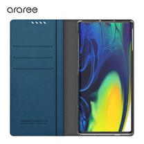 Araree เคส Note 10 [MUSTANG DIARY] เคสกันกระแทก เคสฝาพับ เคสหนัง - Ash Blue