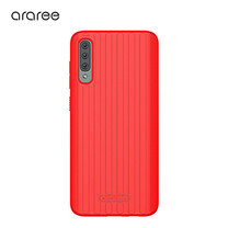 Araree เคส A70 [Airdome]  เคสกันกระแทก เคสซิลิโคน - Red