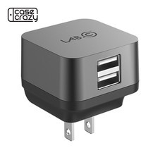 LAB.C USB Wall Charger X2 (3.4A) ปลั๊กชาร์จไฟ USB 2 Ports - Gray