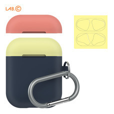 LAB.C เคส AirPods Capsule for AirPods (2 in 1) - Navy-Coral-Lemon
