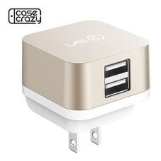 LAB.C USB Wall Charger X2 (3.4A) ปลั๊กชาร์จไฟ USB 2 Ports - Gold