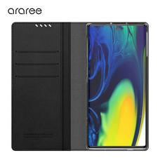Araree เคส Note 10 [MUSTANG DIARY] เคสกันกระแทก เคสฝาพับ เคสหนัง - Black