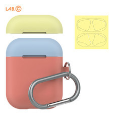 LAB.C เคส AirPods Capsule for AirPods (2 in 1) - Coral-Pastel Blue-Lemon