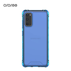 Araree เคส S20 [MACH] เคสใส, เคสกันกระแทก-Deep Blue
