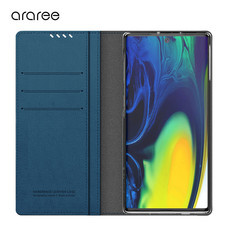 Araree เคส Note 10+ / Note 10 Plus [MUSTANG DIARY] เคสกันกระแทก เคสฝาพับ เคสหนัง - Ash Blue