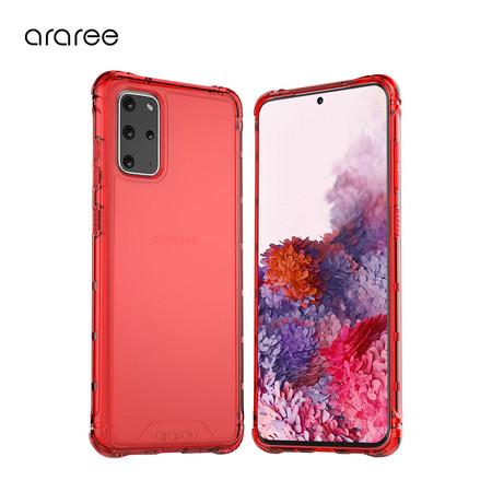Araree เคส S20+ [MACH] เคสใส, เคสกันกระแทก - Red