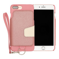 เคสโทรศัพท์ Cheero รุ่น Rakuni for iPhone 7 Plus case BOOK แบบฝาพับ - Pink