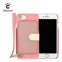 เคสโทรศัพท์ Cheero รุ่น Rakuni for iPhone 7 case BOOK แบบฝาพับ - Pink