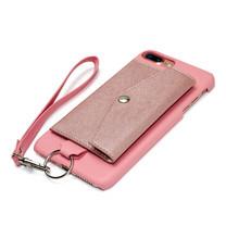 เคสโทรศัพท์ Cheero รุ่น Rakuni for iPhone 7 Plus Case Pocket Type แบบกระเป๋า - Pink