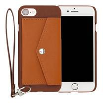 เคสโทรศัพท์ Cheero รุ่น Rakuni for iPhone 7 Case Pocket Type แบบกระเป๋า - Brown