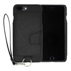 เคสโทรศัพท์ Cheero  รุ่น Rakuni for  iPhone 7 Plus case BOOK แบบฝาพับ - Black