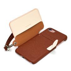 เคสโทรศัพท์ Cheero  รุ่น Rakuni for iPhone 7 case BOOK แบบฝาพับ - Brown
