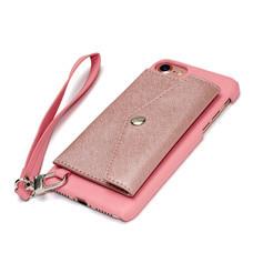 เคสโทรศัพท์ Cheero  รุ่น Rakuni  for iPhone 7 Case Pocket Type แบบกระเป๋า - Pink