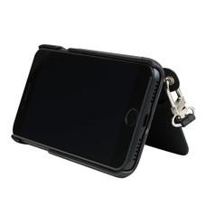 เคสโทรศัพท์ cheero  รุ่น Rakuni for iPhone 7 case BOOK แบบฝาพับ - Black