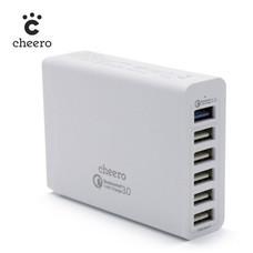 อะแดปเตอร์ Cheero 6 USB AC Charger (Qualcomm Quick Charge 3.0)