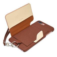 เคสโทรศัพท์ Cheero  รุ่น Rakuni for  iPhone 7 Plus case BOOK แบบฝาพับ - Brown