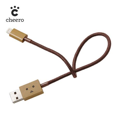 สายชาร์จโทรศัพท์ Cheero DANBOARD USB CABLE with Lightning Light Brown