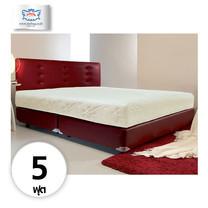 Darling Deluxe ที่นอนพร้อมเตียง 5 ฟุต Riviera Box Spring & Head Board รุ่น Delina - Red