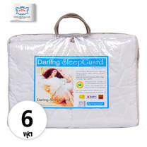 Darling Deluxe ผ้ารองกันเปื้อนที่นอนแบบรัดมุม Sleep Guard Anti-Dust Mite ขนาด 6 ฟุต - White