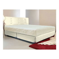 Darling Deluxe ที่นอนพร้อมเตียง 5 ฟุต Riviera Box Spring & Head Board รุ่น Delina - White Cream