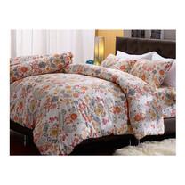 Darling Deluxe ชุดผ้าปูที่นอนแบบรัดมุมพร้อมผ้าห่มนวม 6 ชิ้น รุ่น English Romantic  สำหรับที่นอน 5 ฟุต - Joelle