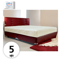 Darling Deluxe ที่นอนพร้อมเตียง 5 ฟุต Riviera Box Spring & Head Board รุ่น Delina - Red