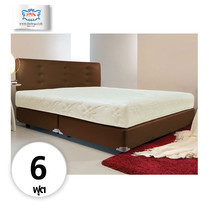Darling Deluxe ที่นอนพร้อมเตียง 6 ฟุต Riviera Box Spring & Head Board รุ่น Delina - Brown