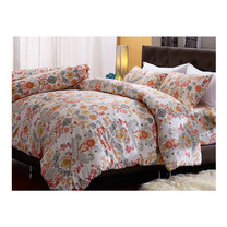 Darling Deluxe ชุดผ้าปูที่นอนแบบรัดมุมพร้อมผ้าห่มนวม 4 ชิ้น รุ่น English Romantic  สำหรับที่นอน 3.5 ฟุต - Joelle