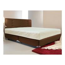Darling Deluxe ที่นอนพร้อมเตียง 6 ฟุต Riviera Box Spring & Head Board รุ่น Delina - Brown