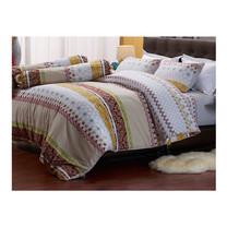 Darling Deluxe ชุดผ้าปูที่นอนแบบรัดมุมพร้อมผ้าห่มนวม 6 ชิ้น รุ่น English Romantic  สำหรับที่นอน 6 ฟุต - Rachel