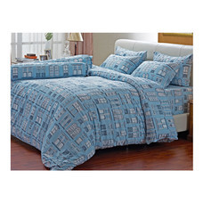 Darling Deluxe ชุดผ้าปูที่นอนแบบรัดมุมพร้อมผ้าห่มนวม 6 ชิ้น รุ่น English Romantic  สำหรับที่นอน 6 ฟุต - Vienna